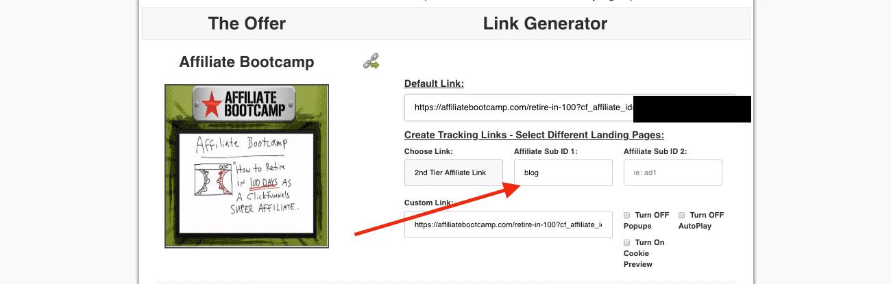ClickFunnels Affiliate Sub ID