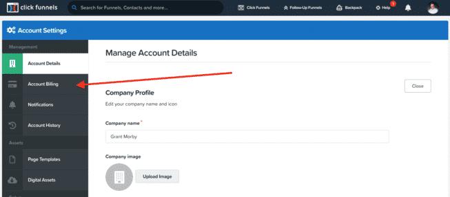 ClickFunnels Account Billing