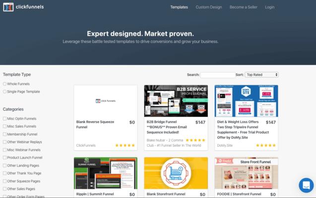 ClickFunnels Marketplace Funnel Templates